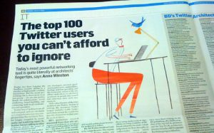 Building Design's BDTwitter100 article