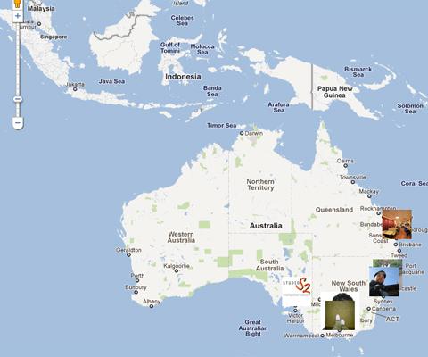 Australasia at 26 August 2011