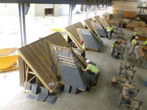 Skillbuild 2012 competition slating and Tiling (image: NFRC)