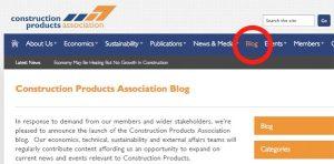 Construction Products Association Blog