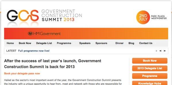 Government Construction Summit 2013 – Live Blogging