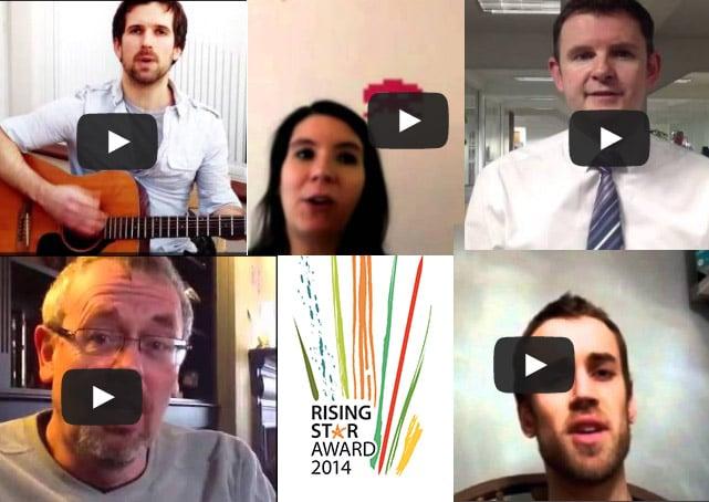 Rising Star Award Video Collage