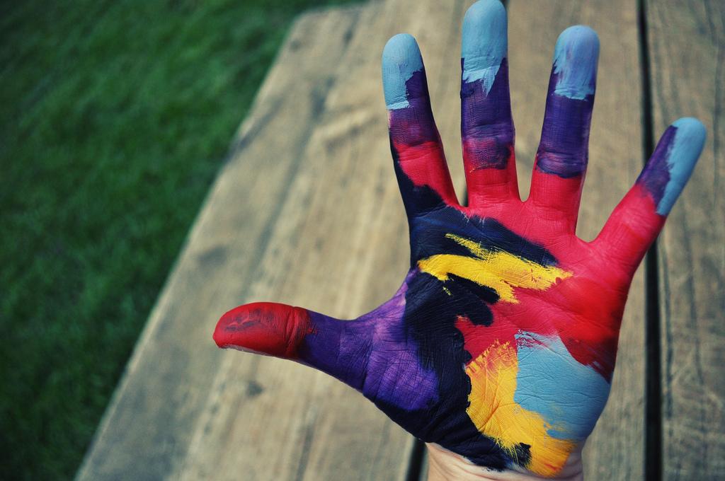 руки в краске картинки него есть прекрасная