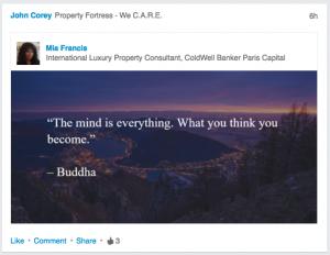Motivational Quote on LinkedIn Crap