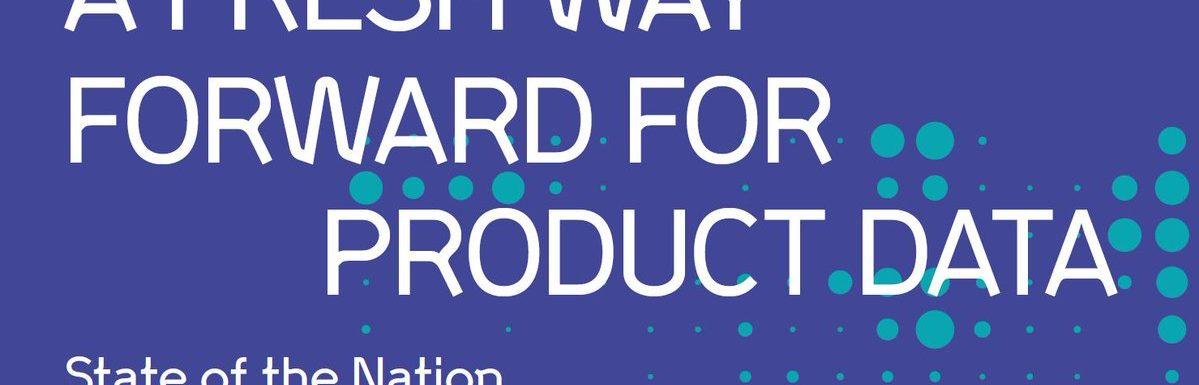 Product Data Working Group Report Published: Over to You
